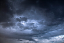 Background Of Dark And Dramatic Clouds Before A Thunder-storm. Can Be Used As Background.