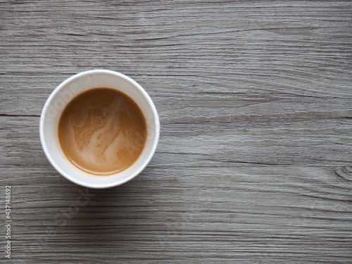 종이컵에 담긴 커피믹스 Fototapete