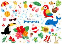 夏のトロピカルイラスト