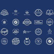 Collection Logo Badge Vectors With Vector
