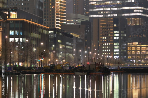 Stampa su Tela 東京駅周辺 丸の内の夜景