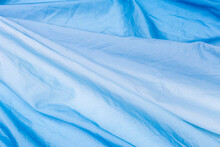 Abstract Blue Fabric Background, Blank Brigh Blue Fabric Texture Background