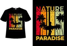 T-shirt Nature Paradise Surf Sunset Retro Vintage Style