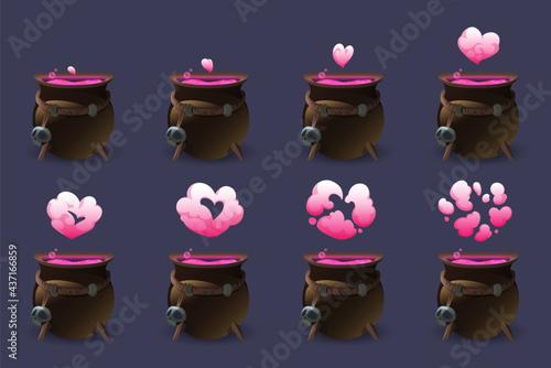 Fotografija Cauldron with love potion motion sequence animation