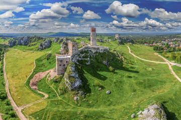 Szlak Orlich Gniazd -zamek w Olsztynie koło Częstochowy