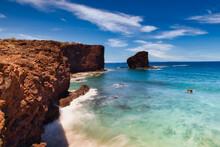Sweetheart Rock On Lanai Hawaii