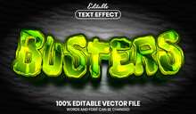 Busters Text Font Style Editable Text Effect