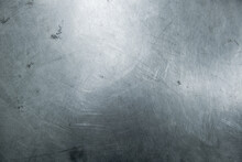 Stainless Steel With Scratches Background Texture.