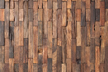 Surface Of Wall Panel Made Boards As A Background. Brown Wood Texture