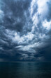 Boat and cloud storm for background