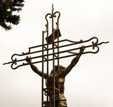 Croix De Mission à Fanjeaux, Aude, France
