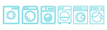 Стиральная машинка, Washing Machine Icon, Set Of Washing Machines For Washing Clothes And Things, New Vector Icons