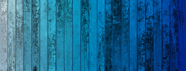 Bois vintage bleu
