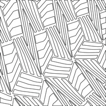 Striped Background. Geometric Vector Pattern With Triangular Elements. Abstract Ornament For Wallpapers And Backgrounds. Black And White Colors.
