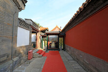 Photos Of Empress Dowager Cixi Of The Qing Dynasty Are Set On The Wall Of The Summer Palace In Beijing