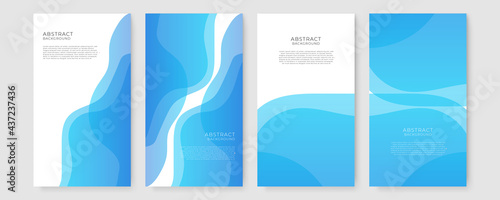 Fotografie, Obraz Abstract background vector with blue wave