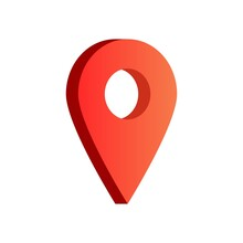 You Are Here Gps Navigation Map Pointer, Vector Map Marker Icon That Points Location, Web Element Design, Place Navigation Sign, Red Location Pin Vector Illustration.
