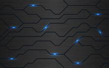 Seamless Vector Futuristic Dark Iron Techno Texture