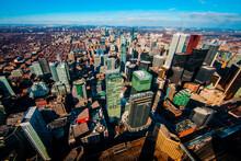 Toronto, Ontario, Canada - Aerial View Of Of Downtown In Toronto, Ontario, Canada