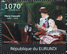 Painting By Mary Cassatt On African Stamp