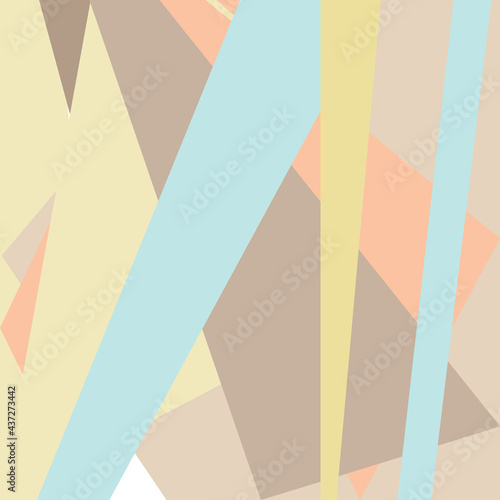 Fotografiet Pastel striped background, 70s retro style