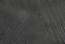 Black Texture Background. Concrete Wall. Rough Surface. Stone Texture. Uneven, Scratched, Lumpy.
