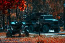 Soviet Military Equipment In The Memorial Park Of Glory