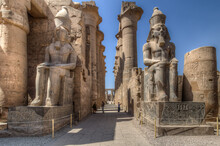 Statues Of The Pharaoh Luxor