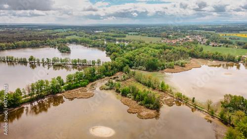 Fotografia Aerial fresh spring landscape