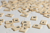 Hebrew letters in random order