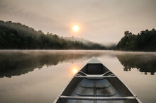 Canoe And Sunrise
