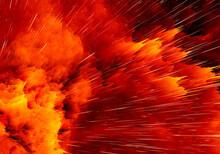 Colorful 2D Explosion Orange