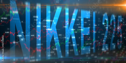 Valokuva TOKYO, JAPAN - CIRCA 2021: Nikkei 225 is a stock market index for the Tokyo Stoc