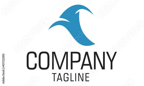 Obraz na plátně Blue Color Simple Wizard Hat Logo Design