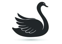Swan Vector Flat Icon. Isolated Swan Bird Emoji Illustration
