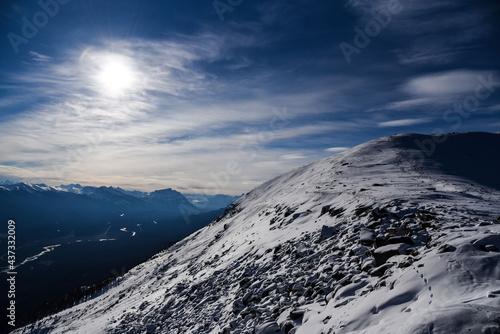 Fotografia 제스퍼 로키 휘슬러 산위의 풍경, Jasper Rocky Whistler Mountain Scenery