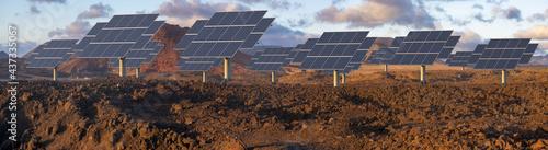 solar farm in the desert #437335067