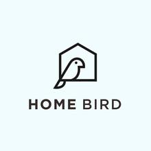 Abstract House Logo. Bird Icon