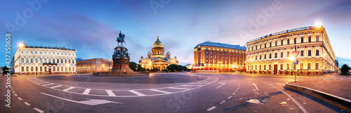 Fotografie, Obraz Panorama ac's Cathedral or Isaakievskiy Sobor in Saint Petersburg, Russia is the largest Russian Orthodox cathedral in the city