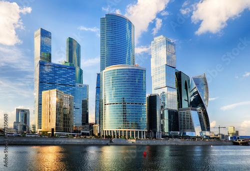 Fotografie, Obraz Russia - Moscow skyline, Modern International Bussinec Center