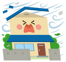 住宅 災害 突風 台風 強風