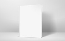 Closed Book With Hardcover In Bright Interior Vector Mockup