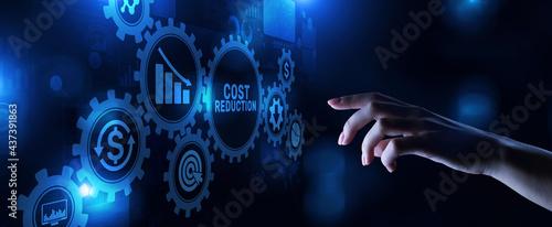 Billede på lærred Costs reduction business finance optimisation strategy economy saving