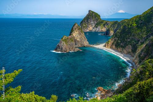 Cuadros en Lienzo 千貫門 富士山と駿河湾