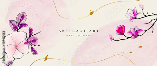 Photographie Abstract art botanical background vector