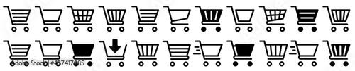 Fotografija Shopping cart icon set