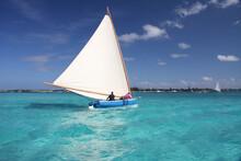 Old Fashion Bahamas Skipjack Sailboat.