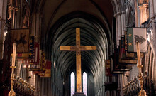 Golden Cross At Church