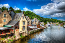 The Port Of Dinan, River Rance, Brittany, France