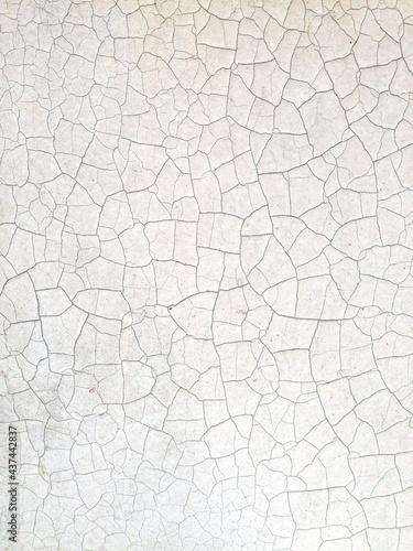 Carta da parati white texture with brown cracks